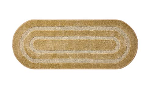 """VCNY Home Bailey Collection Bath Mat Set- Soft Supportive Runner with Nonskid Back - Designed for Bathroom, Hallway, or Kitchen Use, 24"""" x 60"""", Gold"""