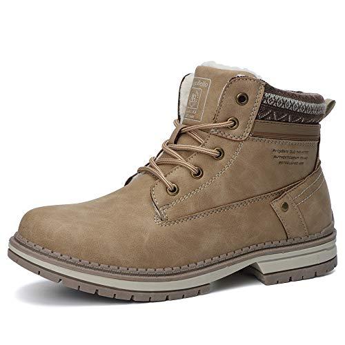 ARRIGO BELLO Damskie buty zimowe z podszewką, buty robocze 36-41, żółty - Żółty z wełną wewnątrz - 39 eu