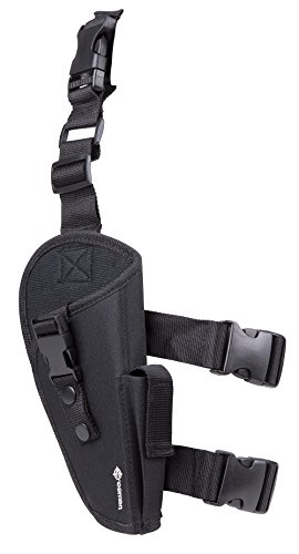 GameFace SAH04 Airsoft Leg Holster With CO2 Pouch, Black