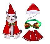 YOUYIKE® Disfraz para Perro Navidad, Ajustable Mascotas Capa Navidad, Pajarita,...