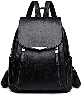 GUMAOPAJIAAA Women's backpack 2020 travel big backpack leather handbag girl school bag women school bag female shoulder (C...