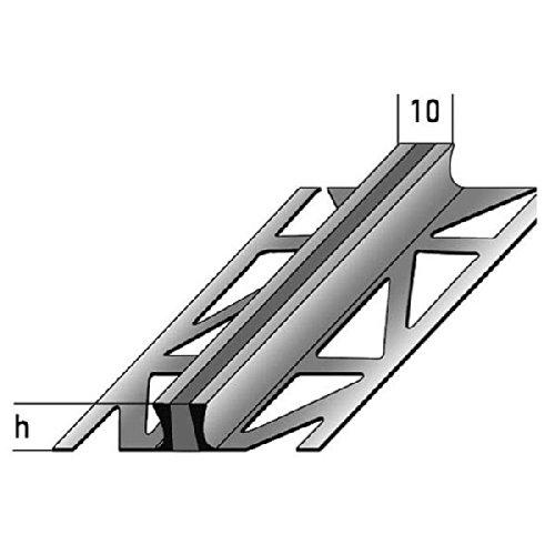 Dehnungsfugenprofil / Dehnungsprofile / Fliesenprofil für Fliesenübergänge, Aluminium, Höhe: 8 mm