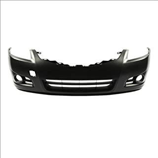 CarPartsDepot, Front Bumper Cover Assembly Primed Black New Plastic w/Fog Hole Replacement, 352-362048-10-PM NI1000268 62022ZX00H