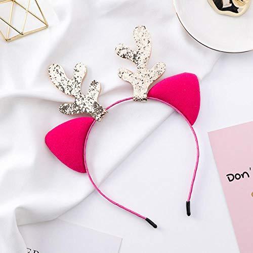 ning88llning5 Bandeau Style De Noël Filles Antler Cat Oreille Bandeau Hairband Princesse Accessoires Cheveux Chapeaux Enfants Sexy Bandeau De Cheveux Coiffe, 4