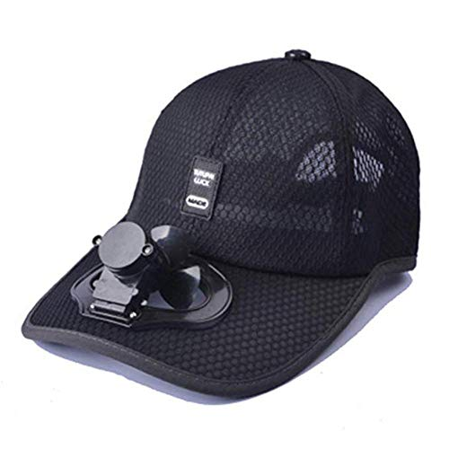 Sombrero unisex ventilador carga USB tapa, gorra exterior