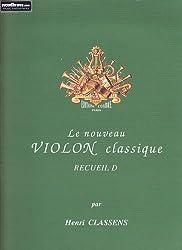 Partitions classique COMBRE CLASSENS HENRI - LE NOUVEAU VIOLON CLASSIQUE RECUEIL D Violon