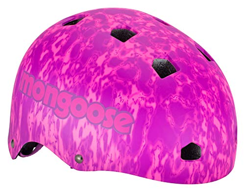 Mongoose Bike Helmet All Terrain Collection, Adult, Pink/Purple (MG79129-2), Youth
