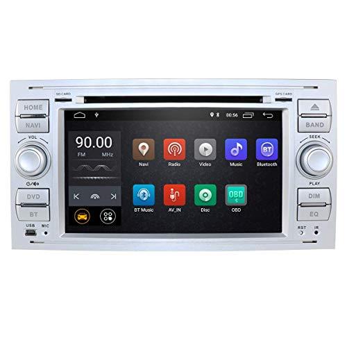 Reproductor multimedia para automóvil Android 10 Quad Core Car in Dash Radio Unidad principal estéreo de doble Din para Ford Focus Mondeo S-max C-max Galaxy Soporte Pantalla de navegación GPS Espejo