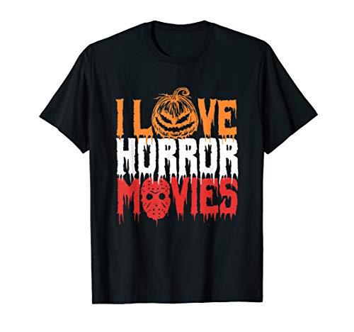 Ich liebe Horrorfilme - Scary Kürbis Kettensägen Shirt