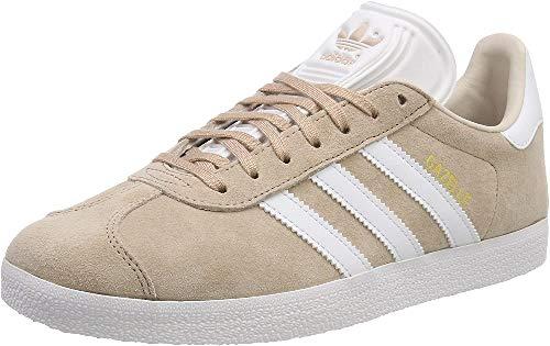 adidas Gazelle W, Scarpe da Ginnastica Donna, Grigio (Ash Pearl S18/Ftwr White/Linen), 39 1/3 EU