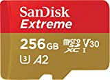 SanDisk 256GB Extreme MicroSDXC UHS-I Memory Card with Adapter - C10, U3, V30,...