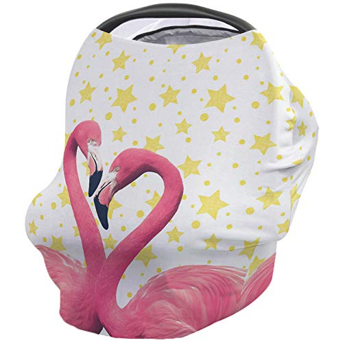 Lowest Prices! Valentine's Animals Nursing Cover for Baby Breastfeeding, Soft Breathable Stretchy Ca...