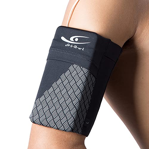 HiRui Universal Sports Armband Cell Phone Armband Sleeves Running Armband for Exercise Workout, Compatible with iPhone 12/12Pro/Mini iPhone 11/11Pro Samsung Galaxy All Phones (Black, Medium)