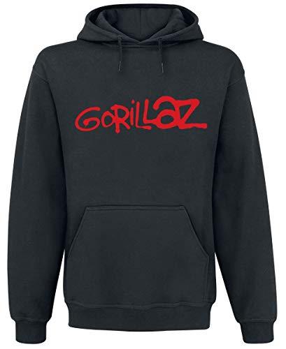 Gorillaz Logo Männer Kapuzenpullover schwarz XL 80% Baumwolle, 20% Polyester Band-Merch, Bands