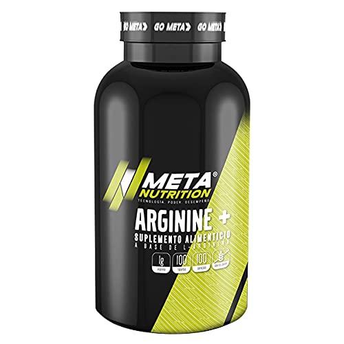 Meta Nutrition Arginina L-Arginine Suplemento Bote - 100 Tabletas