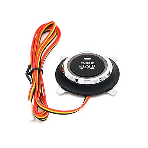 Auleset Botón De Arranque del Motor del Coche, Botón De Arranque Universal Conveniente ABS 12V Botón De Arranque del Motor del Coche para Vehículo Negro