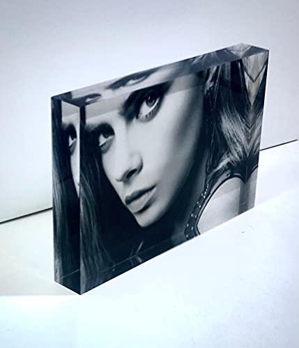 SAQUITOMAGICO Foto Impresa sobre Bloque de Metacrilato (acrílico) de 20 mm. Impresión UVI.- (10 x 20 cm).-Puedes incluir Texto.