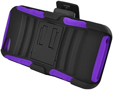 Z-GEN - for Apple iPhone SE, iPhone 5, iPhone 5S - Hybrid Case w/Stand/Belt Clip Holster + PET Film Screen Protector - CV2 Purple