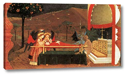 "Miracle of The Desecrated Host Scene 6 by Paolo Uccello - 9"" x 16"" Gallery Wrap Canvas Art Print - Ready to Hang"