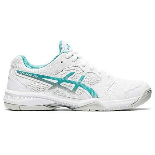 ASICS Gel-Dedicate 6, Zapatos de Tenis Mujer, White Techno Cyan, 39 EU