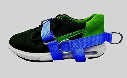 Bleu 5-d Cheville / Pied Chaussure Sangle Pentagone 5 Anneau Câble Gym Machine Fixation pour Hommes / Femme Yoga, Pilate, Idéal pour Pied Thérapie Rehab