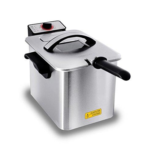 Inventum gf645F Single Stand-alone deep Fryer 4L 3000W Stainless Steel Fryer–FRYERS (Deep Fryer, 4l, 0.8Kg, 4l, 190°C, Single)