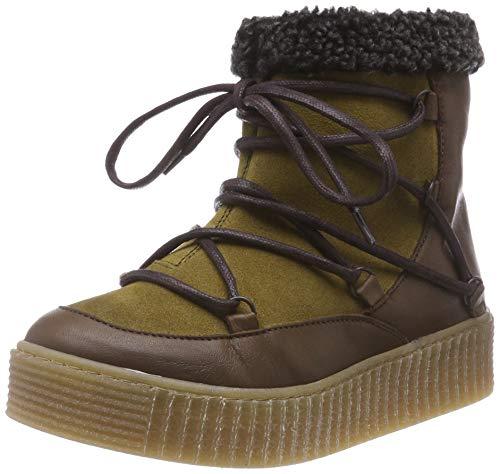 Pieces Pspaccia Leather Boot, Bottes & Bottines Souples Femme, Vert (Khaki Khaki), 42 EU