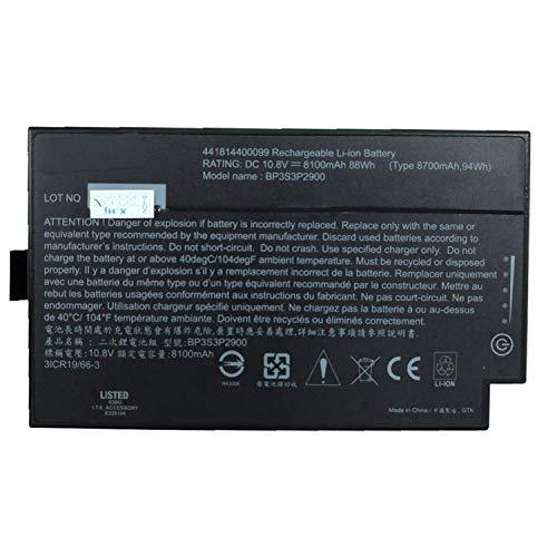 HUBEI BP3S3P2900 BP3S3P3450P-02 441814400099 BP3S3P2900P 4418144000490 3ICR19/66-3 Laptop Batterie Ersatz für Getac B300 B300X Series (10.8V 8100mAh 88Wh)