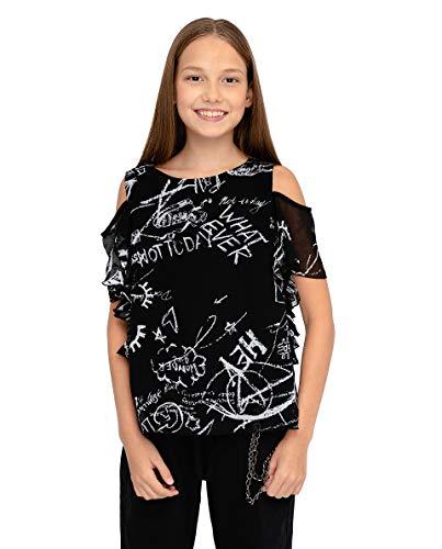 GULLIVER Kinderen Mouwloze Blouse Meisjes Blouse Korte Mouw Zwart Schouderloos Mouwloos Korte Mouw 9-14 Jaar