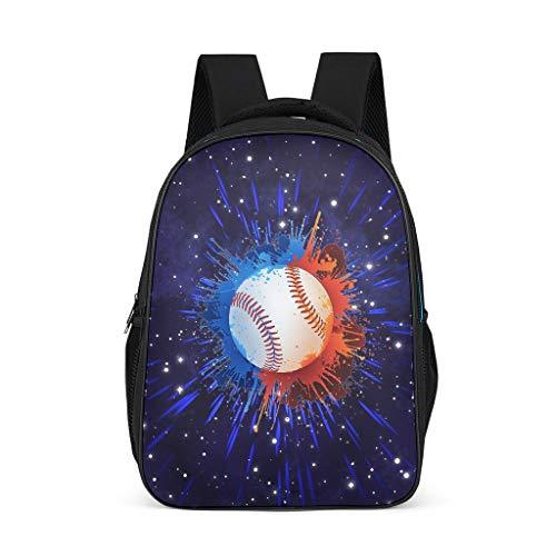 Ouniaodao - Mochila de béisbol de gran capacidad para escuela primaria, diseño de arte de béisbol, mochila para portátil