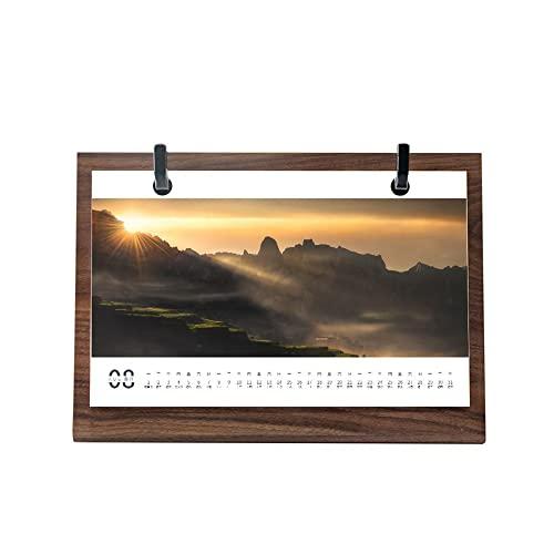 2022 Wooden Desk Calendar,Creative Desktop...