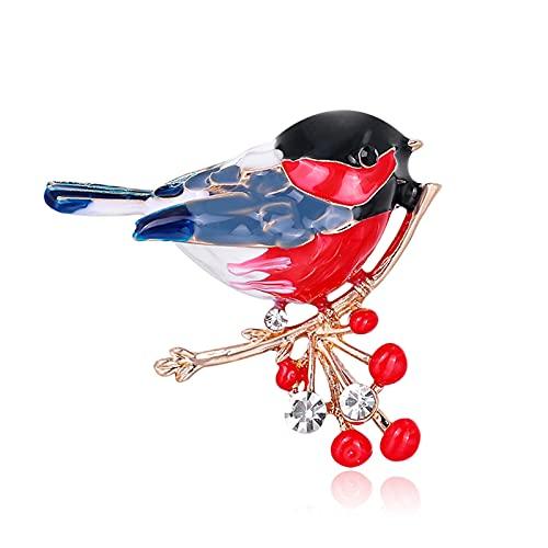 Bodhi2000 Broche de moda accesorio broche pin estilo étnico fácil de combinar aleación de dibujos animados pájaro broche insignia, mujeres niñas fiesta decoración regalos pájaros