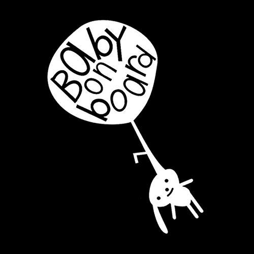 Xlydf 11,9 cm x 16,3 cm, bonito bebé a bordo en el coche, pegatina de advertencia de vinilo, decoración negro/plata (nombre del color: plateado)