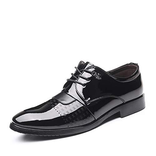 JINWEI Oxfords CLÁSICO para Hombre LOS Zapatos Formales DE Vestidos FORTALIZADORES BANQUERIOR Perforado Perforado Perforado PERTURADO PERTURA PERTURA Anti-Skid (Color : Negro, Size : 41 EU)