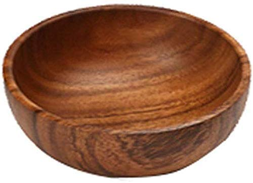 YZjk Novelty Home Schalen und Schalen, einfache Holzschale, gefrostete Schale handgefertigte Naturschale, Home Restaurant Küche Obstsalat Snack tt Suppenschale Reisschale, 20 & Times; 7cm