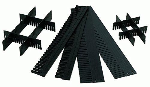 Schubladeneinteilung / Trennfächer / Gefachteiler, individuell zuschneidbar, Länge: 1150 mm, 40 mm hoch, aus PP