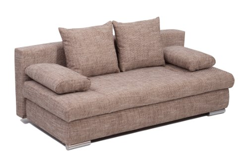 Collection AB Schlafsofa Chicago-PUR Strukturstoff, Capuccino  200x95 cm