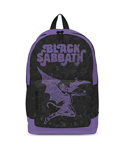 Black Sabbath Backpack Bag Purple Demon Band Logo Official Rocksax Black Size One Size