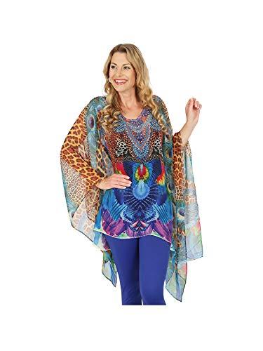 ÉTOILE DE MER Tunika Multicolor   Damenmode   Damen-Bluse   Langarm-Bluse   Oberteile Damen