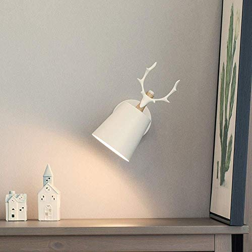 Iluminación de pared ligera para sala de estar. Lámpara de pared, ajustable de cuero de madera decorativo moderno de la pared del LED aplique de la luz con acabado dormitorio Reading Lights Industrial