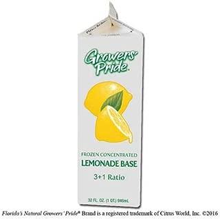 Floridas Natural Growers Pride 3 Plus 1 Ratio Concentrate Lemonade Base, 32 Fluid Ounce -- 12 per case.