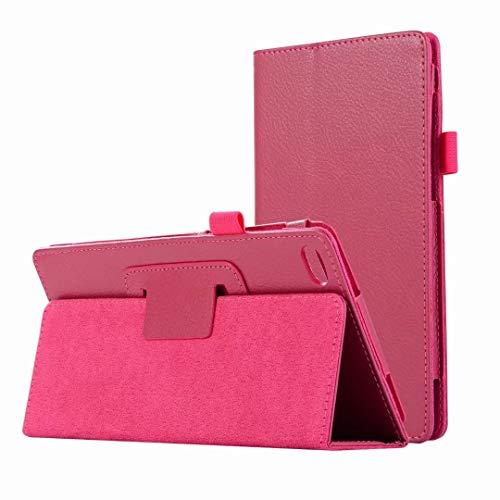 HereMore Cover Lenovo Tab 7 Essential, Slim Case Cover Custodia Portafoglio in Pelle con Porta Pennino e Supporto per Lenovo Tab 7304F   TB-7304X Tablet da 7   Pollici, Magenta