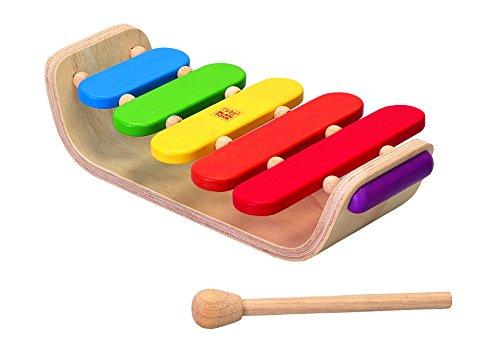 PLAN TOYS- Xilófono Ovalado, Instrumento de Juguete, Multicolor (PlanToys 6405)