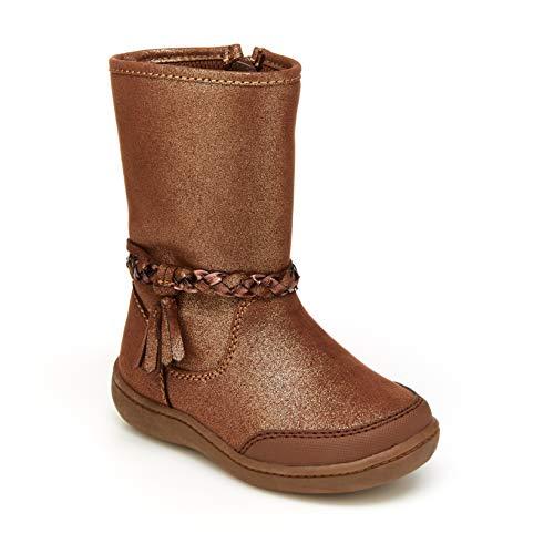 Stride Rite 360 Girls Amita Fashion Boot, Brown, 6 Toddler