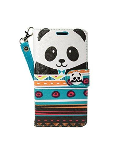 LG Aristo2 Case, Customerfirst [Wallet Stand] [Slim Fit] Heavy Duty Protective Shock Resistant Flip Cover Wallet Case for LG Aristo 2 / LG Aristo / LG Tribute Dynsaty / LG K8 2017 (Panda)