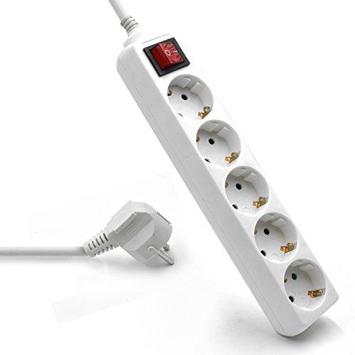 Blanco Silver Electronics 9640 Base el/éctrica 3 salidas con interruptor