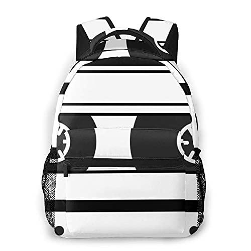 Lawenp Mochila Unisex de Moda Mochila de Cinta Retro Mochila Ligera para portátil para Viajes Escolares Acampar al Aire Libre