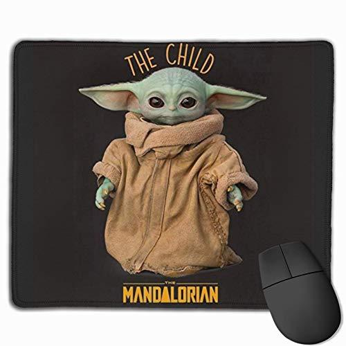Spiel Mauspad,Mousepads Für Computer,Büro Mausmatte,Matte Mit Genähten Kanten,Master-Baby-Yoda-Darth-Vader-Star-Wars-Mauspad Für Laptop, Desktop-Computer