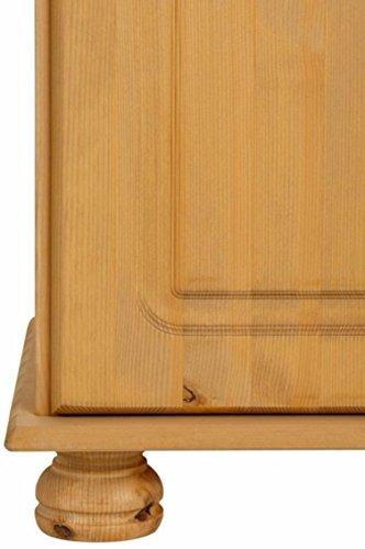 LifeStyleDesign 3009044 Wohnwand Ella, 130 x 30 x 185 cm, kiefer, gebeizt geölt - 5