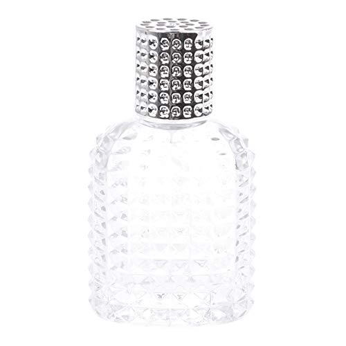 Homeofying Bouteille de parfum en verre d'ananas avec vaporisateur vide 30 à 50 ml Argenté 50 ml